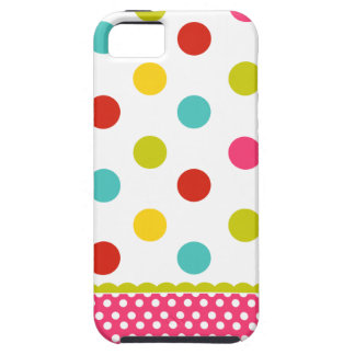 Colorful polka dot iPhone 5 case