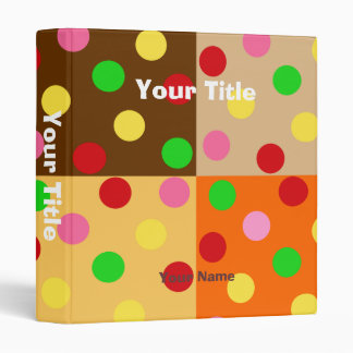 Colorful Polka Dot Pattern Patchwork Vinyl Binders