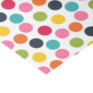 Colorful polka dot pattern tissue paper