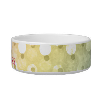 Colorful Polka Dot Personalized Cat Bowl