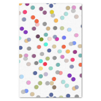 Colorful Polka Dot Print Tissue Paper