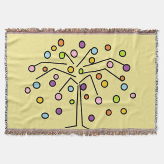 Colorful Polka Dot Tree Throw Blanket