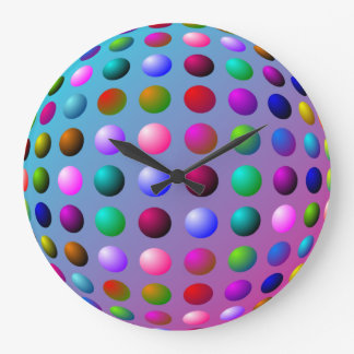 Colorful Polka Dot Wall Clock