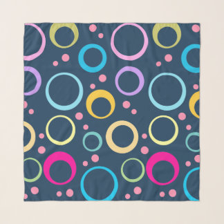 Colorful Polka Dots and Bubbles Scarf