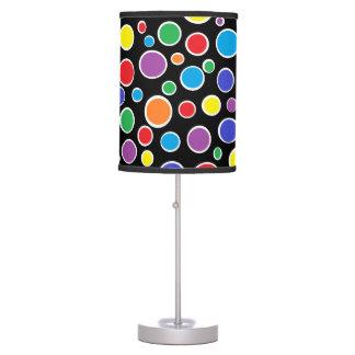 Colorful Polka Dots Black Lamp