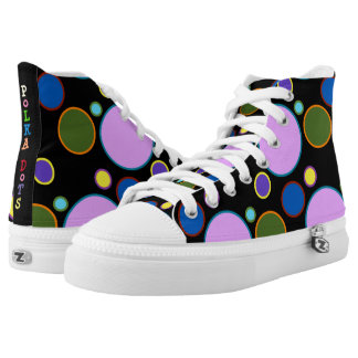 Colorful Polka Dots Circles High Tops