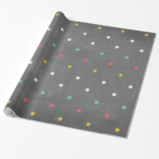 Colorful Polka-Dots Faux Chalkboard Background