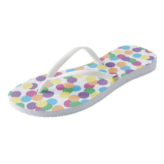 Colorful Polka-Dots Flip Flops