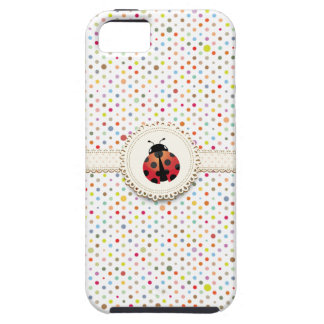 Colorful Polka Dots Ladybug iPhone 5 Case