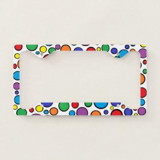 Colorful Polka Dots License Plate Frame