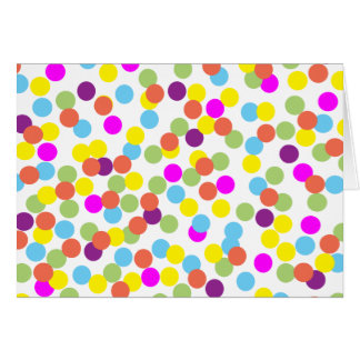 Colorful Polka-Dots on White Blank-Inside Card