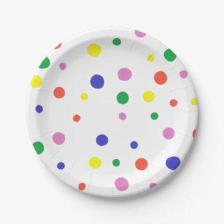 Colorful Polka Dots Paper Plates
