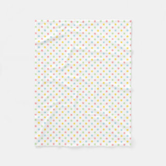 Colorful polka dots pattern fleece blanket