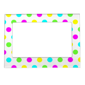 Colorful Polka Dots - Picture Magnetic Frame