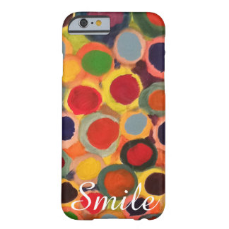 """Colorful Polka Dots, """"Smile"""" Cute Iphone 6 case"""
