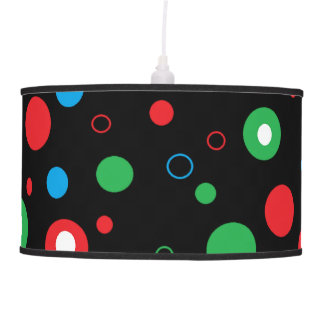 Colorful Polka Dotted Hanging Light Pendant Lamp