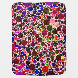 Colorful Polkadot Bling Baby Blanket