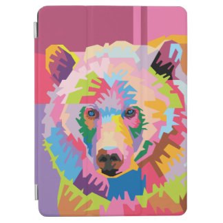 Colorful Pop Art Bear Portrait iPad Air Cover