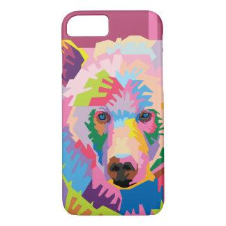 Colorful Pop Art Bear Portrait iPhone 8/7 Case