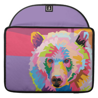 Colorful Pop Art Bear Portrait Sleeve For MacBook Pro