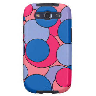 Colorful pop art circles patter samsung galaxy SIII cases