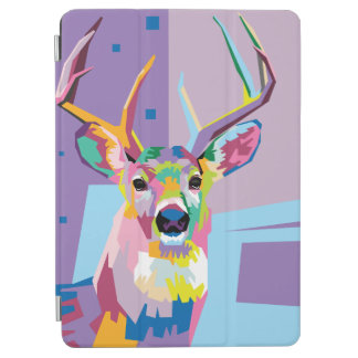 Colorful Pop Art Deer Portrait iPad Air Cover