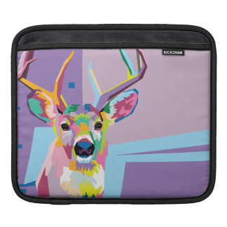 Colorful Pop Art Deer Portrait iPad Sleeve