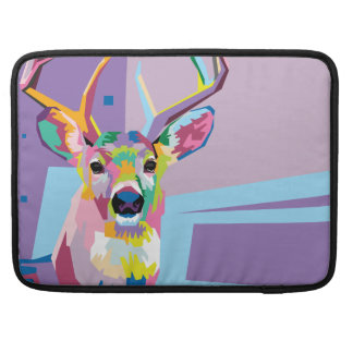 Colorful Pop Art Deer Portrait Sleeve For MacBook Pro
