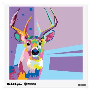 Colorful Pop Art Deer Portrait Wall Decal