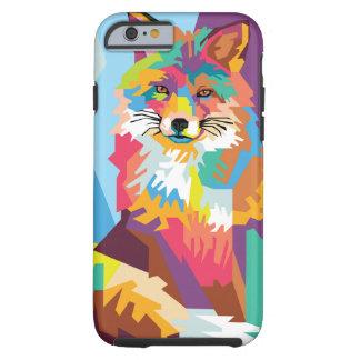 Colorful Pop Art Fox Portrait Tough iPhone 6 Case
