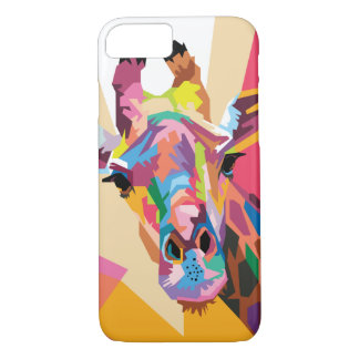 Colorful Pop Art Giraffe Portrait Case-Mate iPhone Case