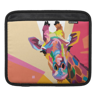 Colorful Pop Art Giraffe Portrait iPad Sleeve