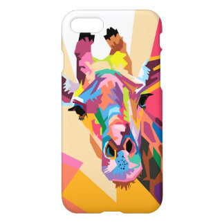 Colorful Pop Art Giraffe Portrait iPhone 8/7 Case