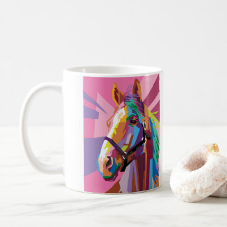 Colorful Pop Art Horse Portrait Coffee Mug