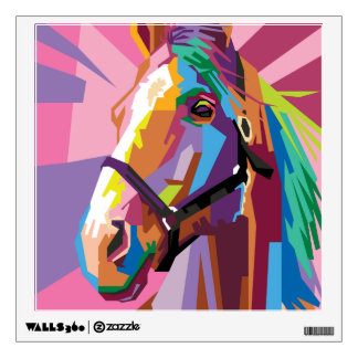 Colorful Pop Art Horse Portrait Wall Decal