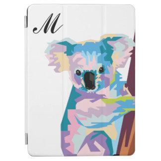 Colorful Pop Art Koala Monogrammed iPad Air Cover