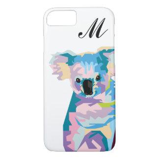 Colorful Pop Art Koala Monogrammed iPhone 8/7 Case