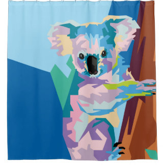 Colorful Pop Art Koala Portrait