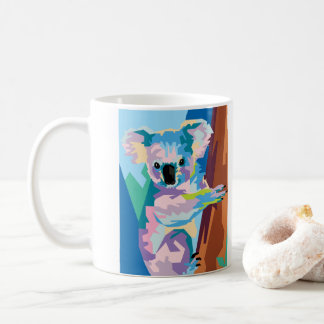 Colorful Pop Art Koala Portrait Coffee Mug