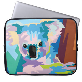 Colorful Pop Art Koala Portrait Laptop Sleeve