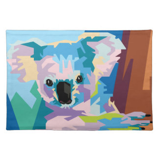 Colorful Pop Art Koala Portrait Placemat