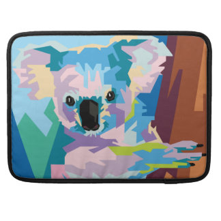 Colorful Pop Art Koala Portrait Sleeve For MacBook Pro