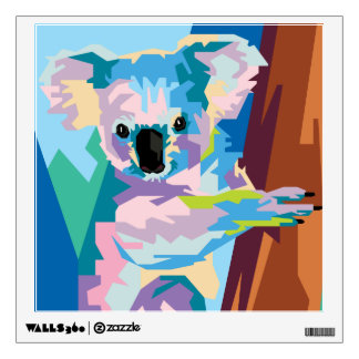 Colorful Pop Art Koala Portrait Wall Sticker