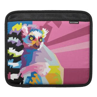 Colorful Pop Art Lemur Portrait iPad Sleeve