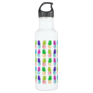 Colorful pop art painting pineapple pattern 710 ml water bottle