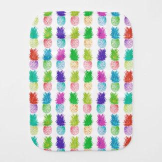 Colorful pop art painting pineapple pattern burp cloth