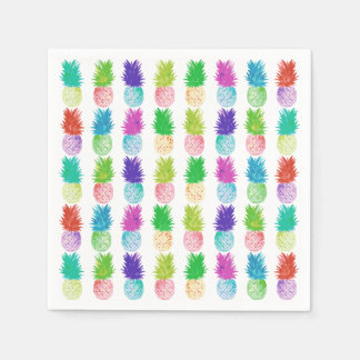 Colorful pop art painting pineapple pattern disposable napkins