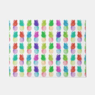 Colorful pop art painting pineapple pattern doormat