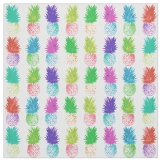 Colorful pop art painting pineapple pattern fabric