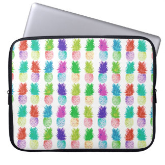 Colorful pop art painting pineapple pattern laptop sleeve